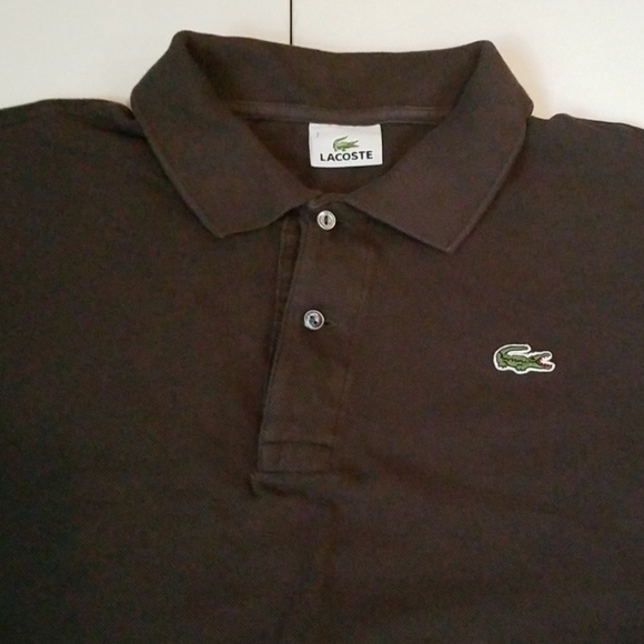 Lacoste Other - Lacoste Polo Shirt Charcoal/Gray Sz 7